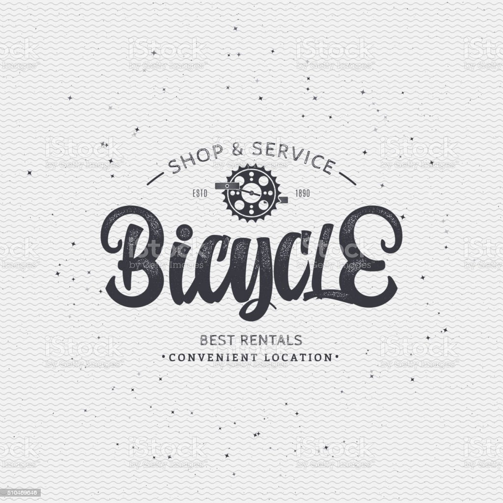 Bicycle badge insignia for any use such as signage design vector art illustration