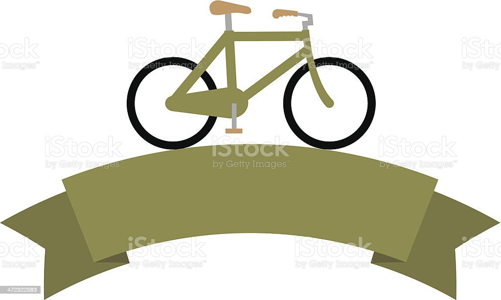 Bicycle banner royalty-free stock vector art