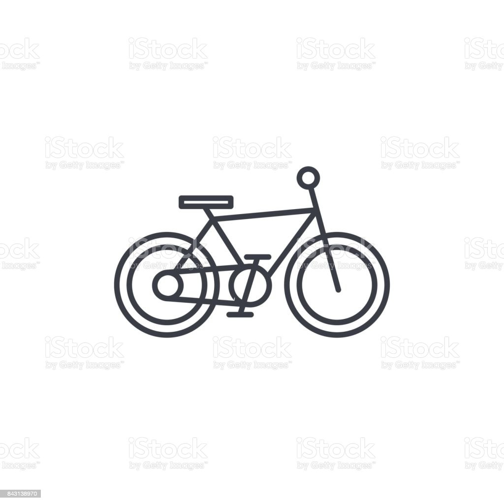 Bicycle, bike thin line icon. Linear vector symbol vector art illustration