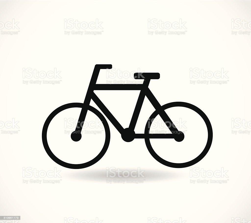 Bicycle black icon vector vector art illustration