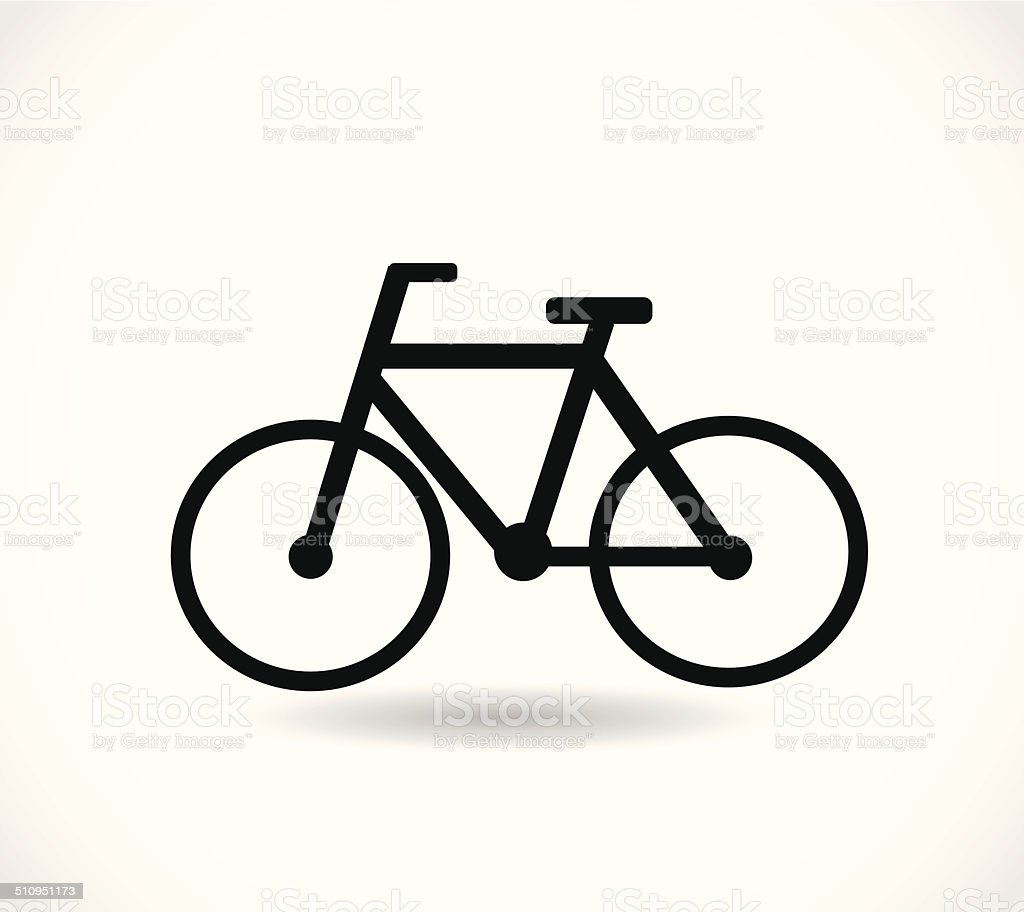 Bicycle black icon vector vector art illustration