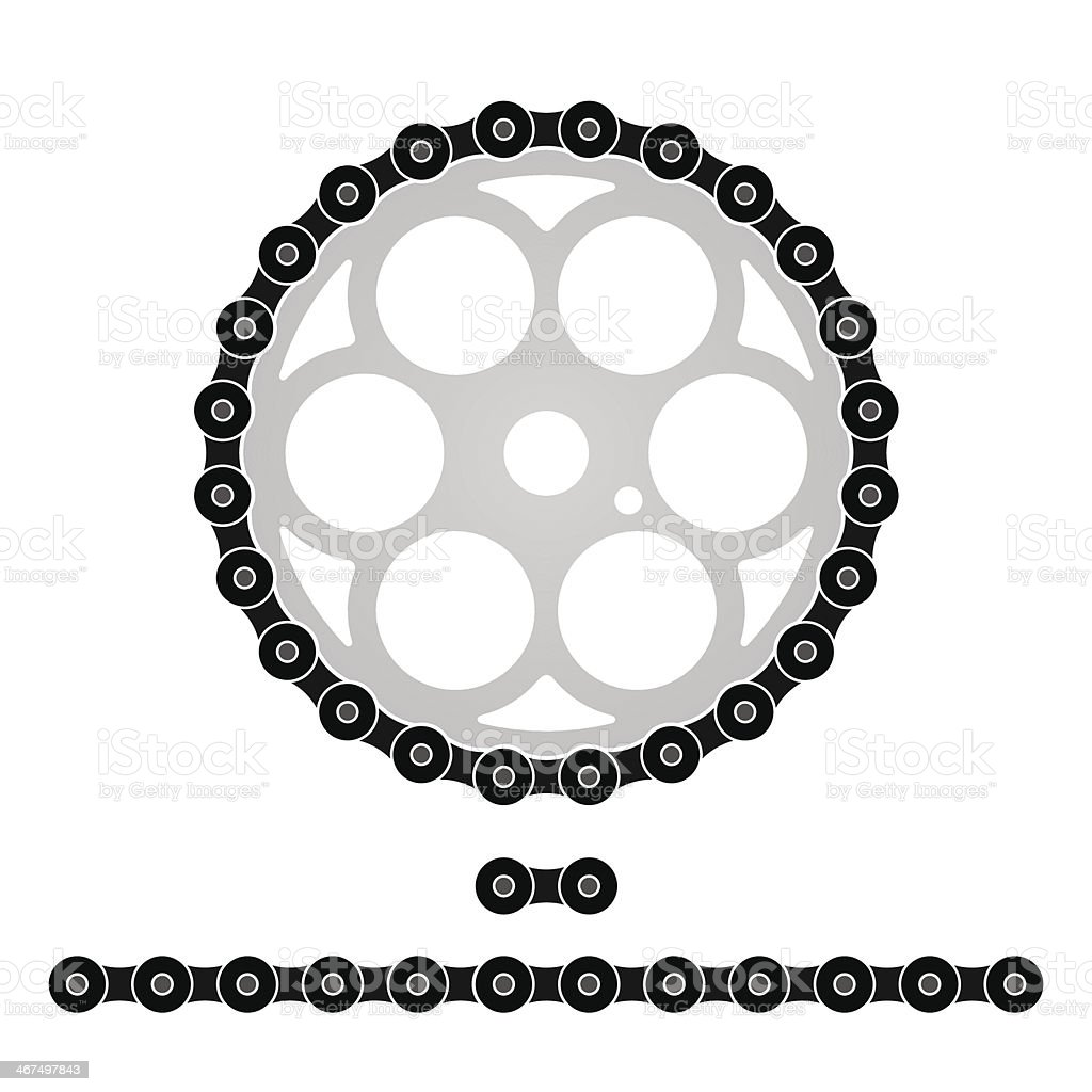 Bicycle Chain vector art illustration