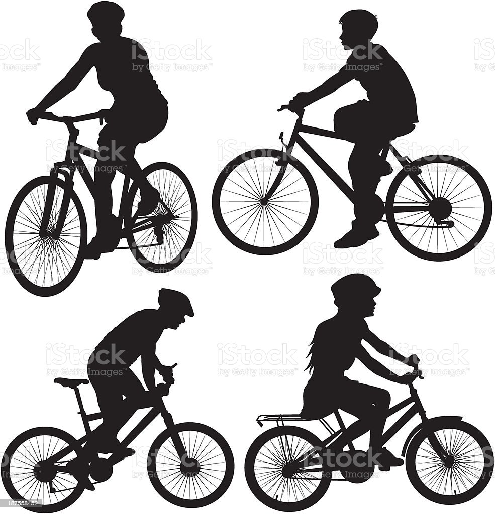 bicycle, cyclist - icon vector art illustration