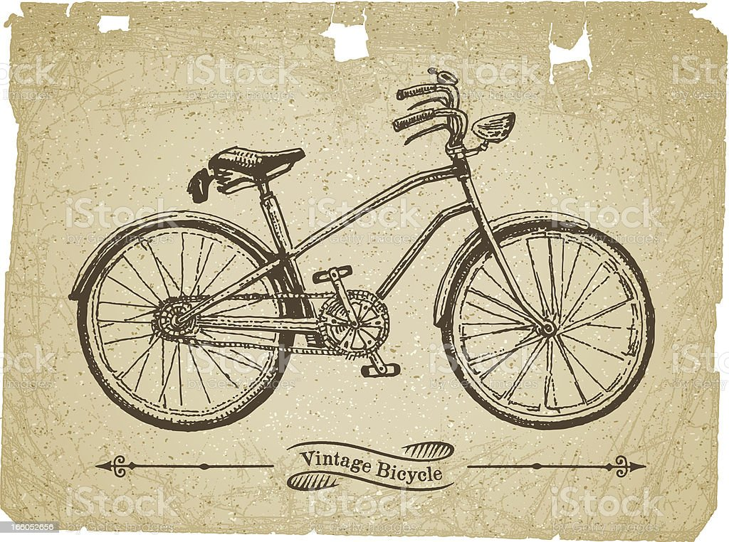 Bicycle Drawing royalty-free stock vector art