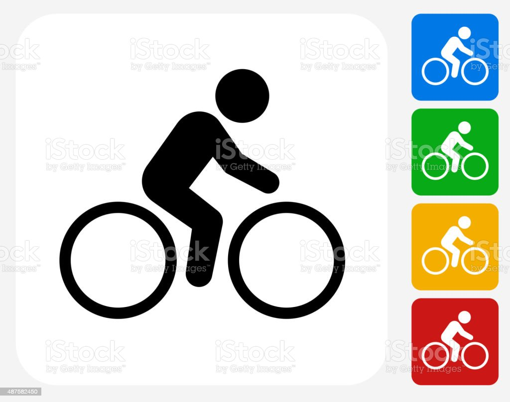 Bicycle Icon Flat Graphic Design vector art illustration