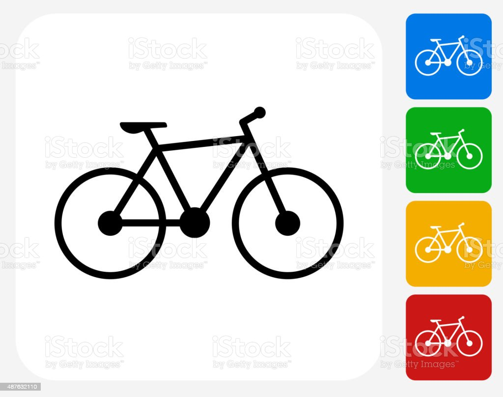 Bicycle Icon Flat Graphic Design vector art illustration