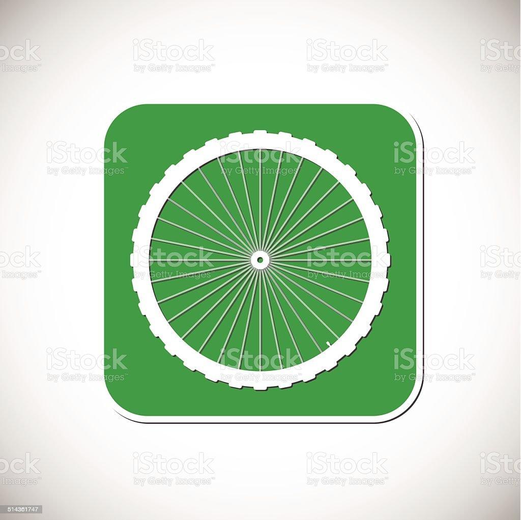 Icône de vélo.  Monture carrée vert.  Illustration vectorielle stock vecteur libres de droits libre de droits
