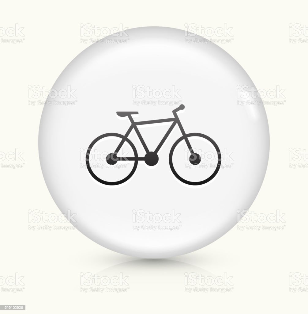 Bicycle icon on white round vector button vector art illustration