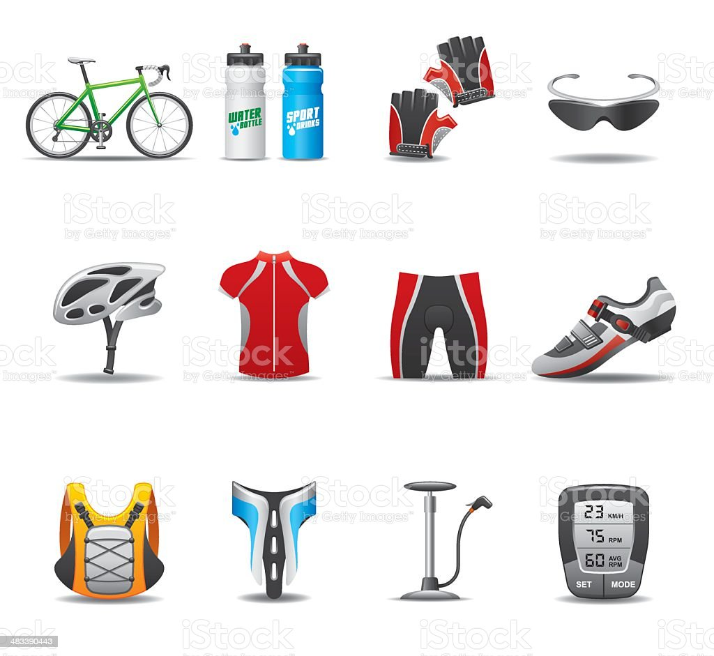 Bicycle Icon Set | Elegant Series royalty-free stock vector art