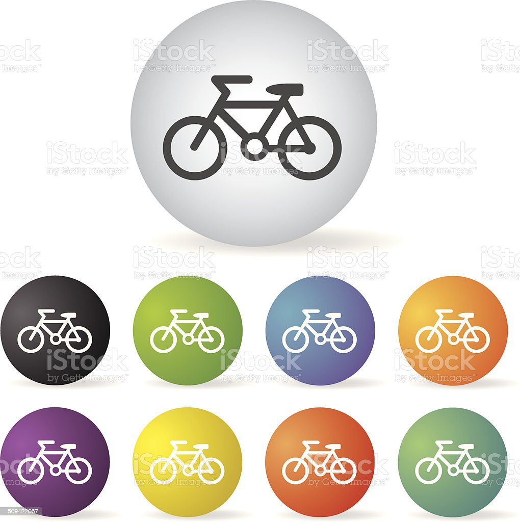 bicycle icon set royalty-free stock vector art