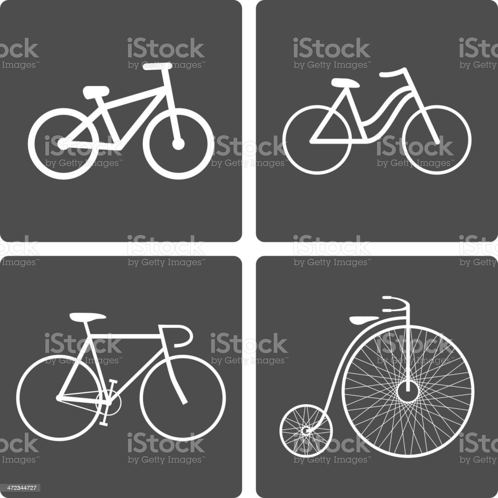 Bicycle icons royalty-free stock vector art