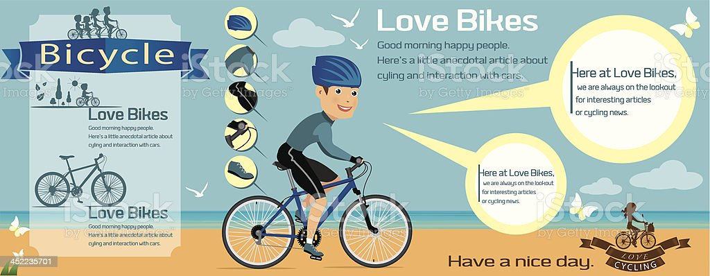 bicycle info graphics, royalty-free stock vector art