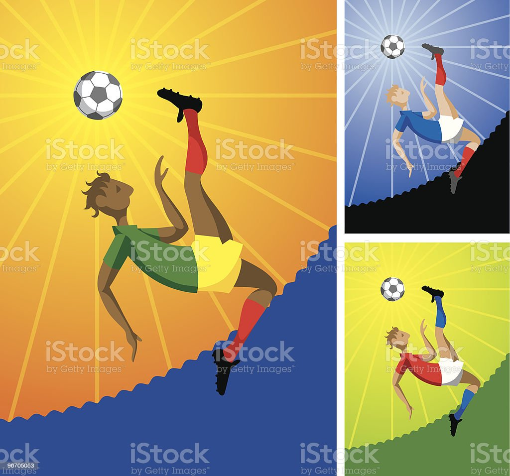 Bicycle Kick royalty-free stock vector art