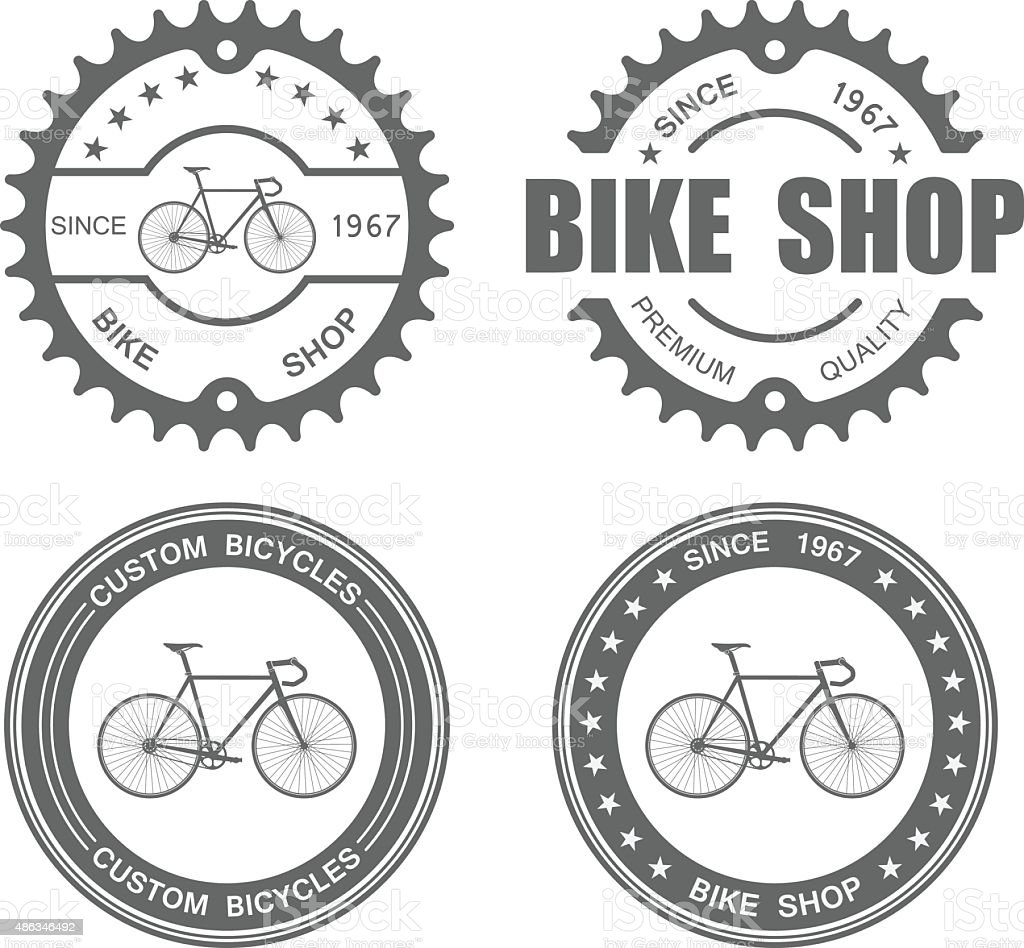 Bicycle Label Set Template.vector vector art illustration
