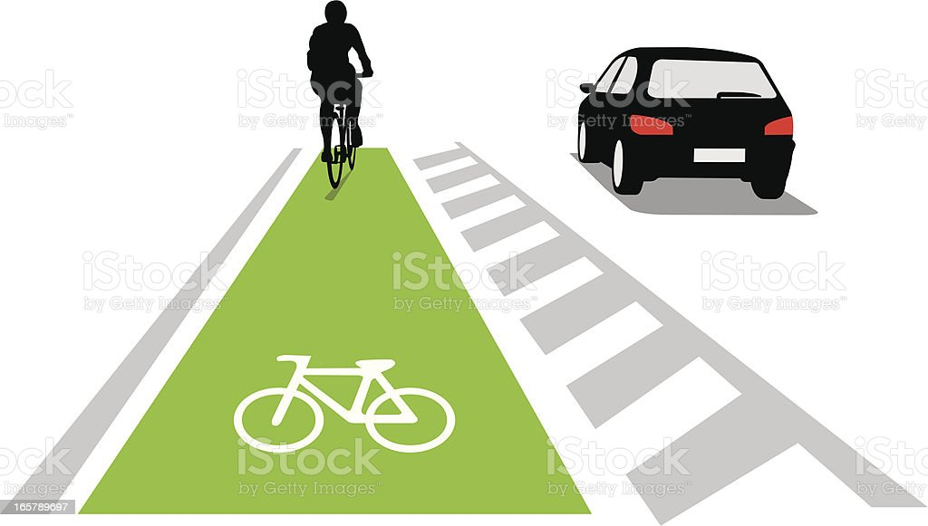 Bicycle lane concept royalty-free stock vector art