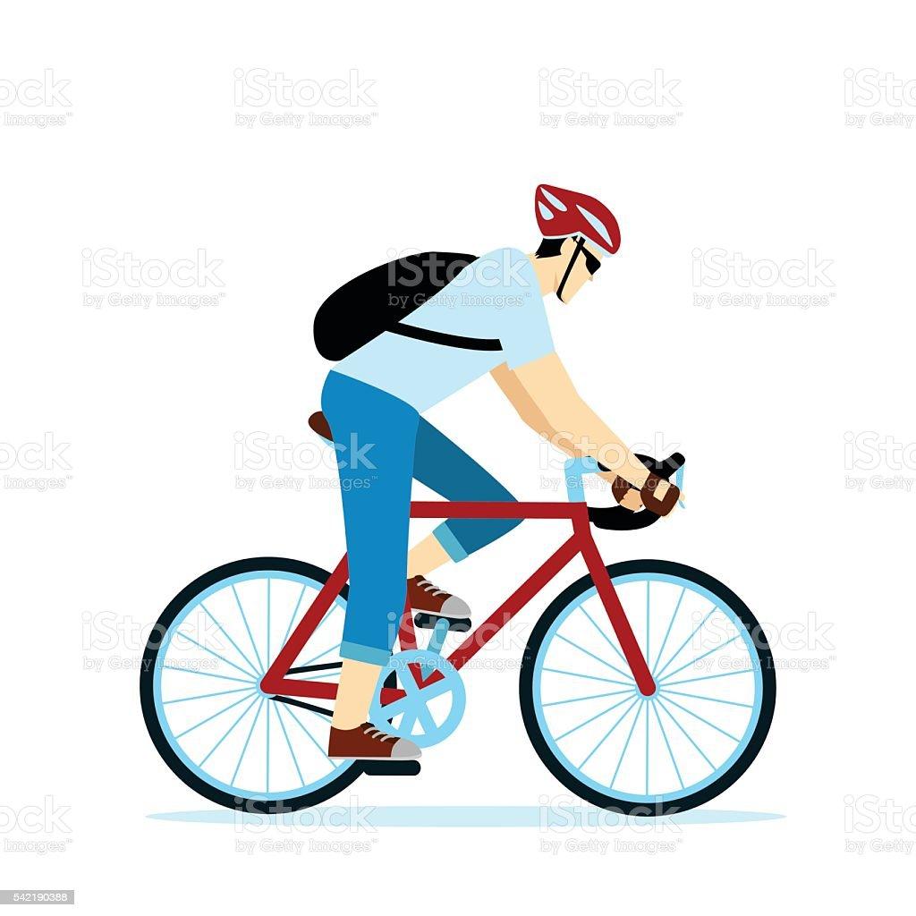 bicycle messenger vector art illustration