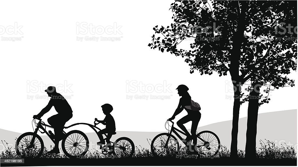 Bicycle Outside royalty-free stock vector art