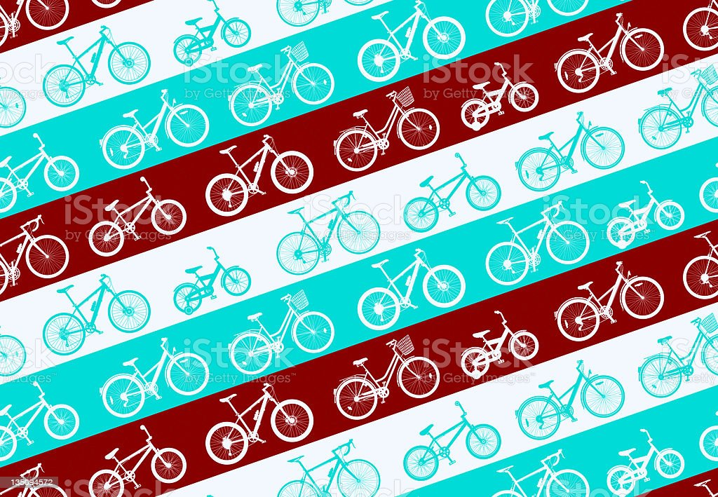 Bicycle Pattern royalty-free stock vector art
