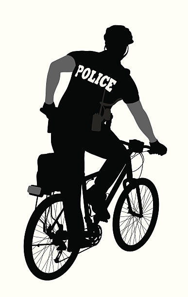 Police Bicycle Clip Art, Vector Images & Illustrations - iStock