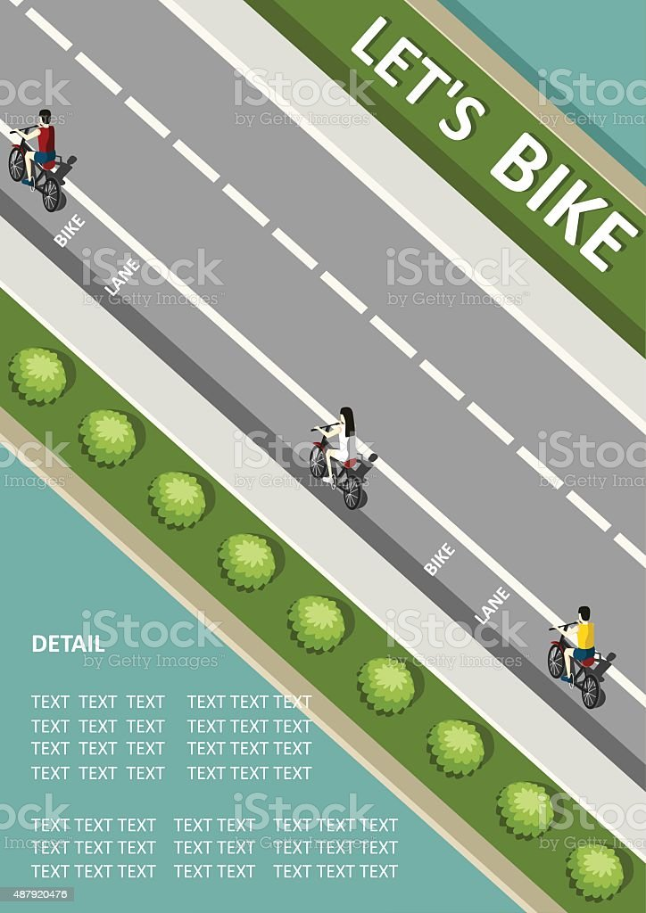 bicycle poster template vector art illustration