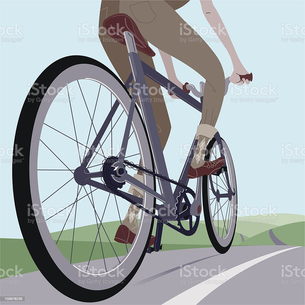 Bicycle ride royalty-free stock vector art