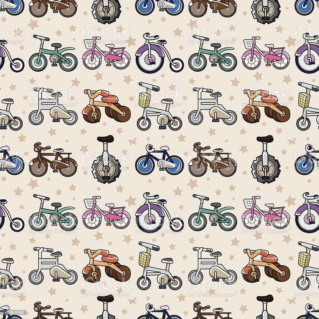 Bicycle seamless pattern royalty-free stock vector art
