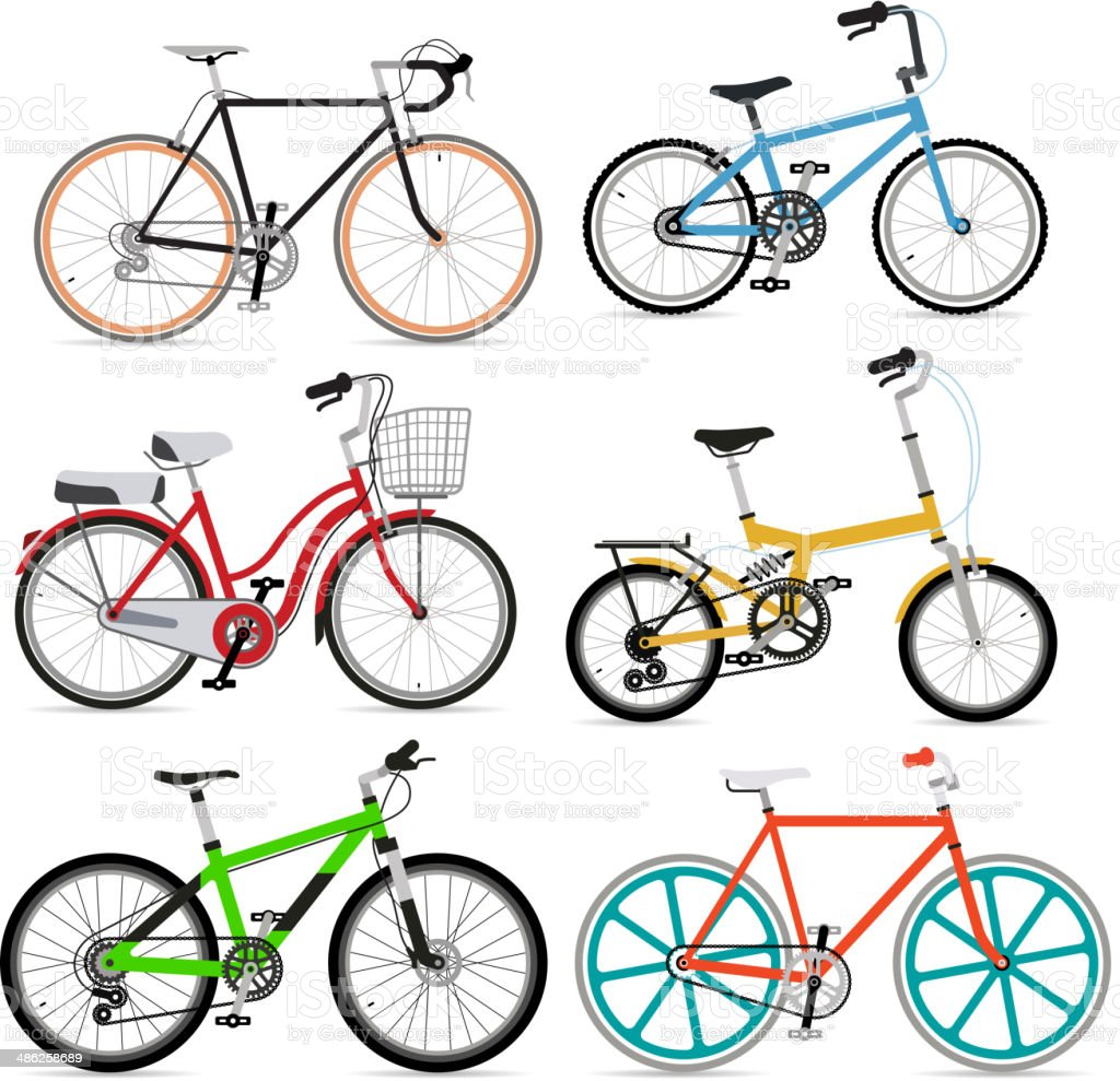 Bicycle set. vector art illustration