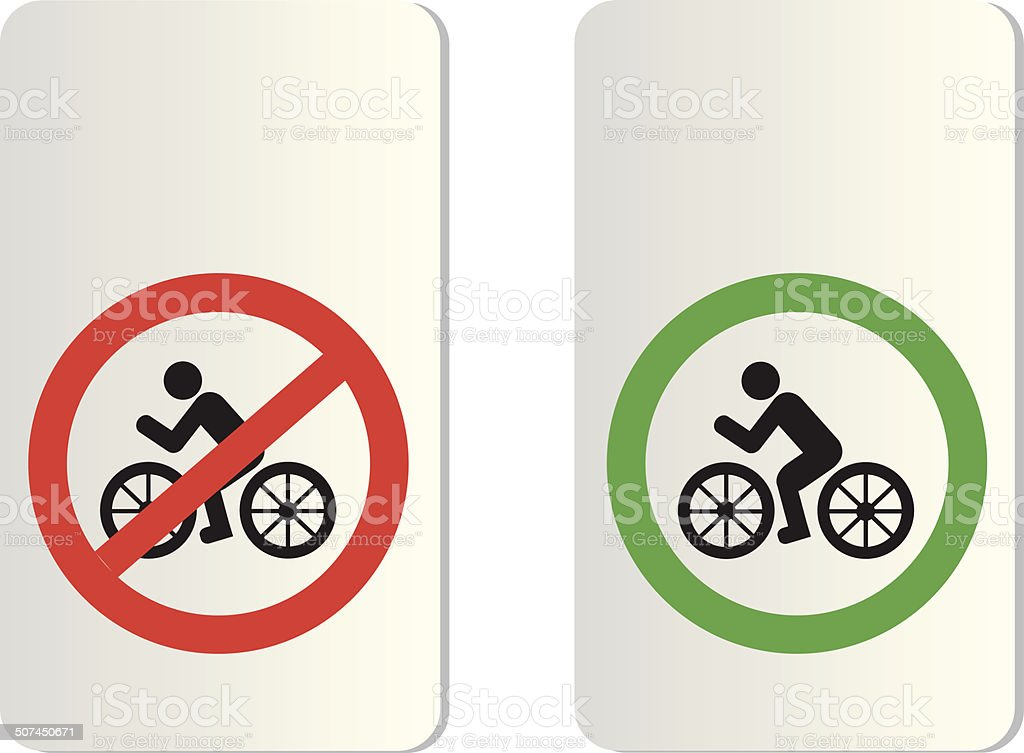 bicycle signs vector art illustration