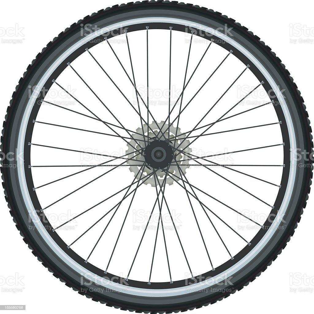 Bicycle tire royalty-free stock vector art