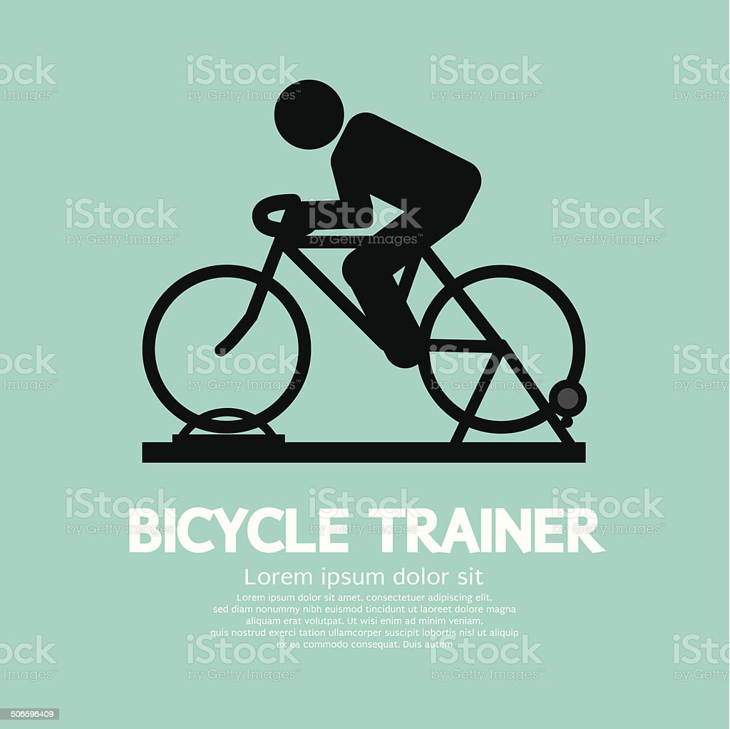 Bicycle Trainer Graphic Sign Vector Illustration vector art illustration
