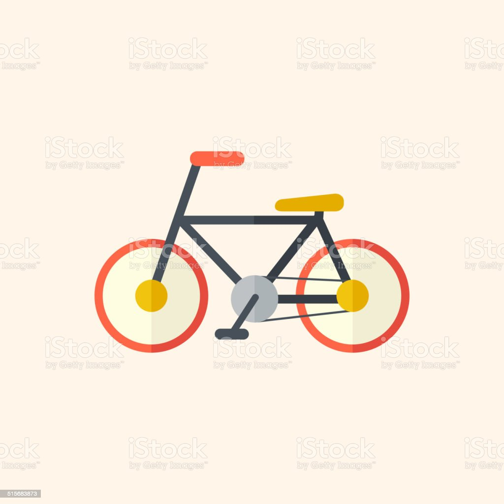 Bicycle. Travel Flat Icon vector art illustration