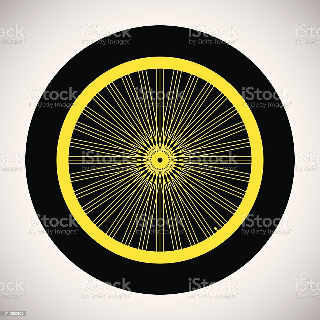 Roue de bicyclette icône stock vecteur libres de droits libre de droits