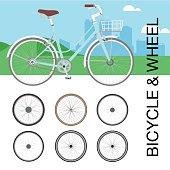 Bicycle wheel Set vector illustration