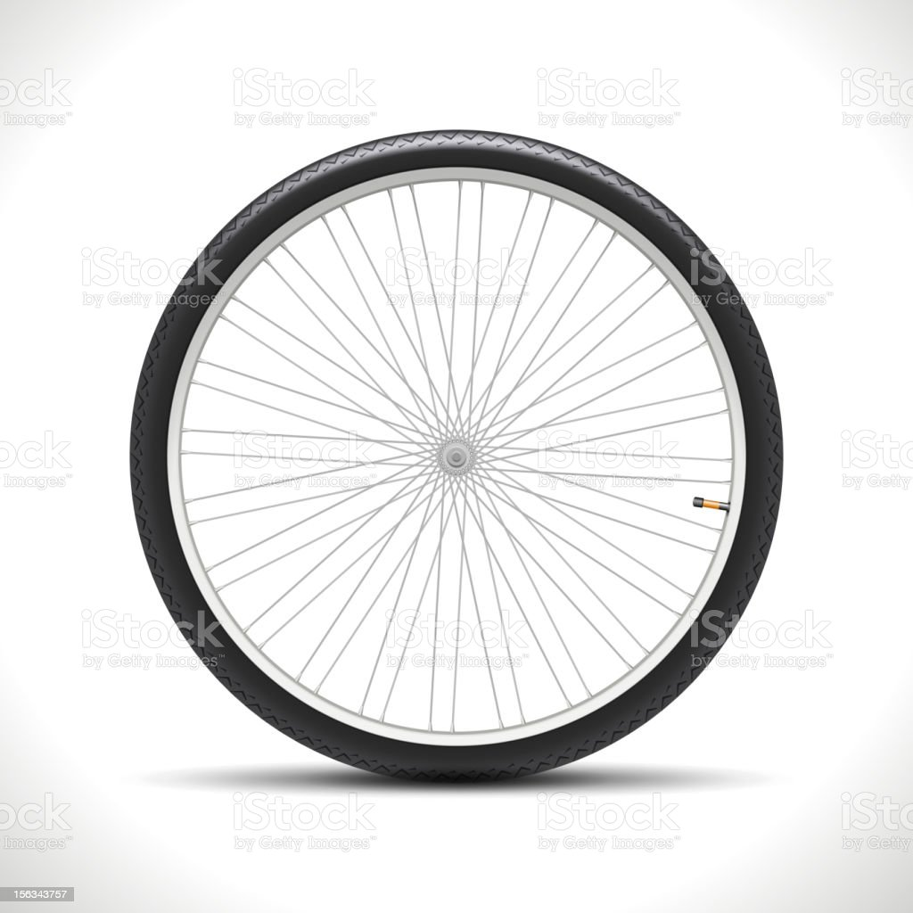Bicycle Wheel royalty-free stock vector art
