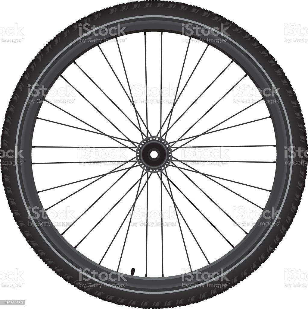 Bicycle wheel royalty-free stock vector art