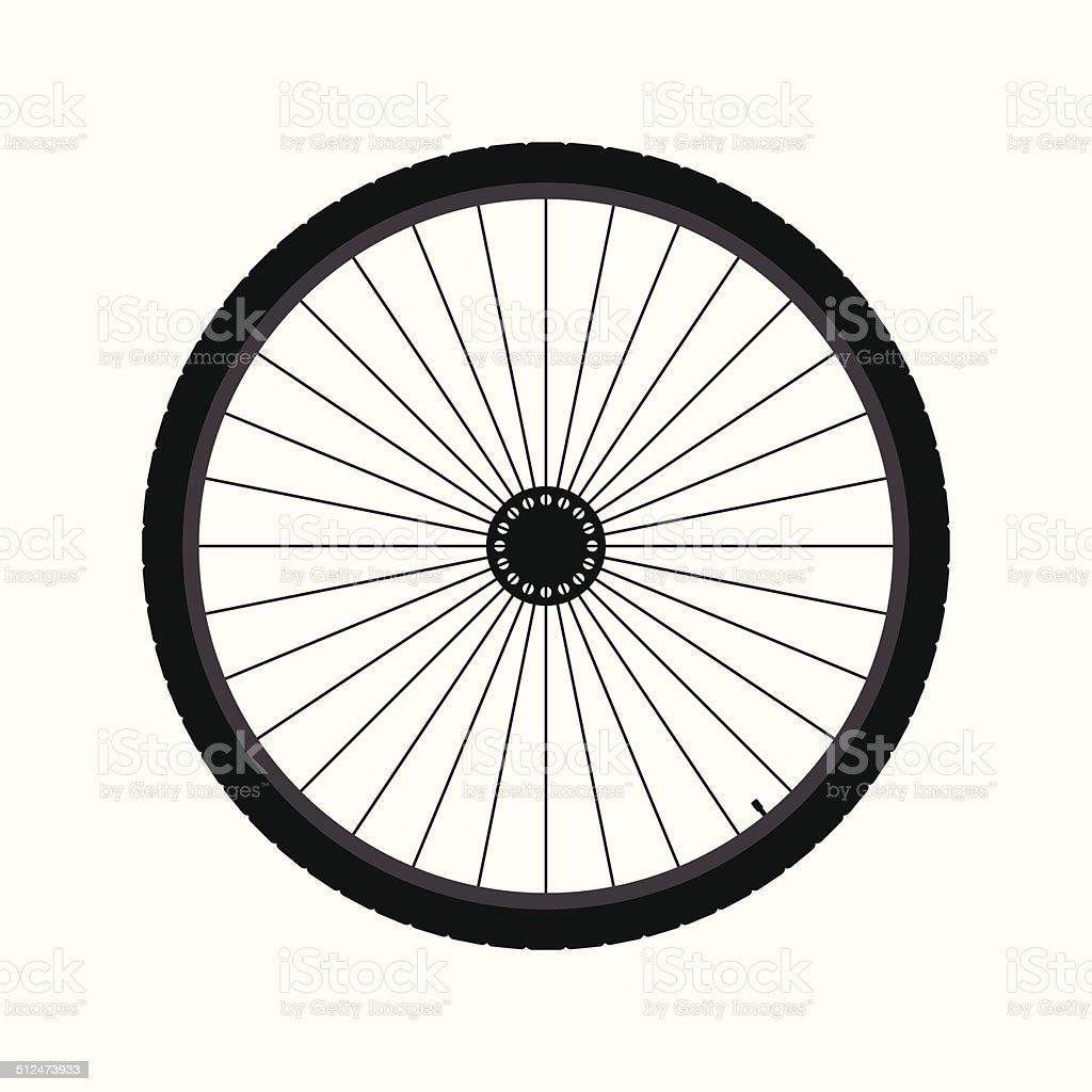 Roue de bicyclette stock vecteur libres de droits libre de droits