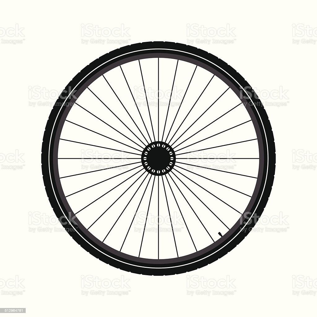 Bicycle wheel vector art illustration