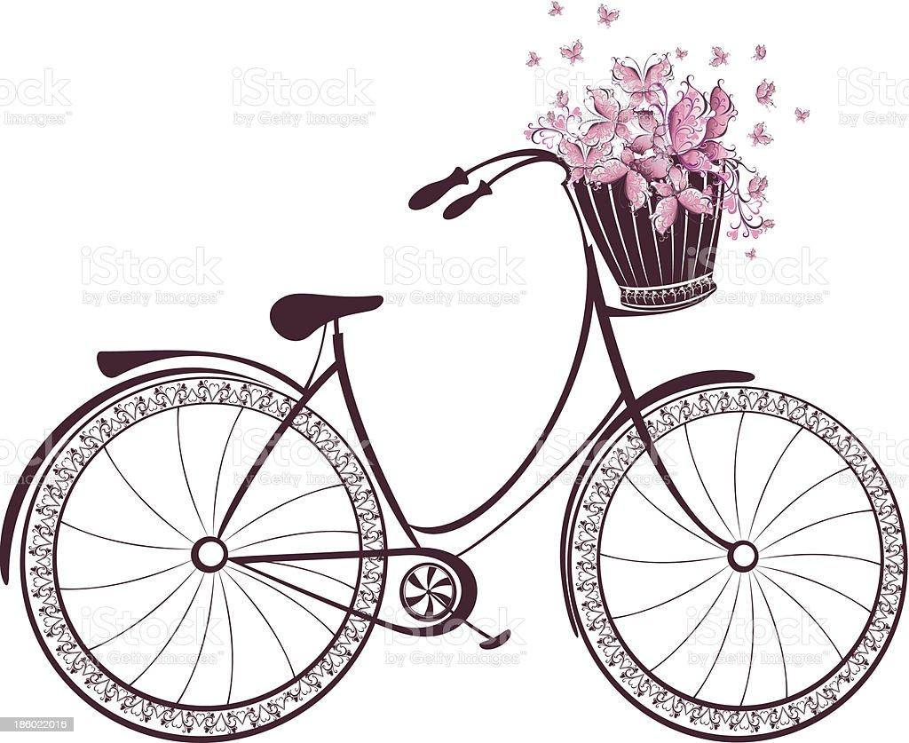 Рисунки велосипеда с цветами