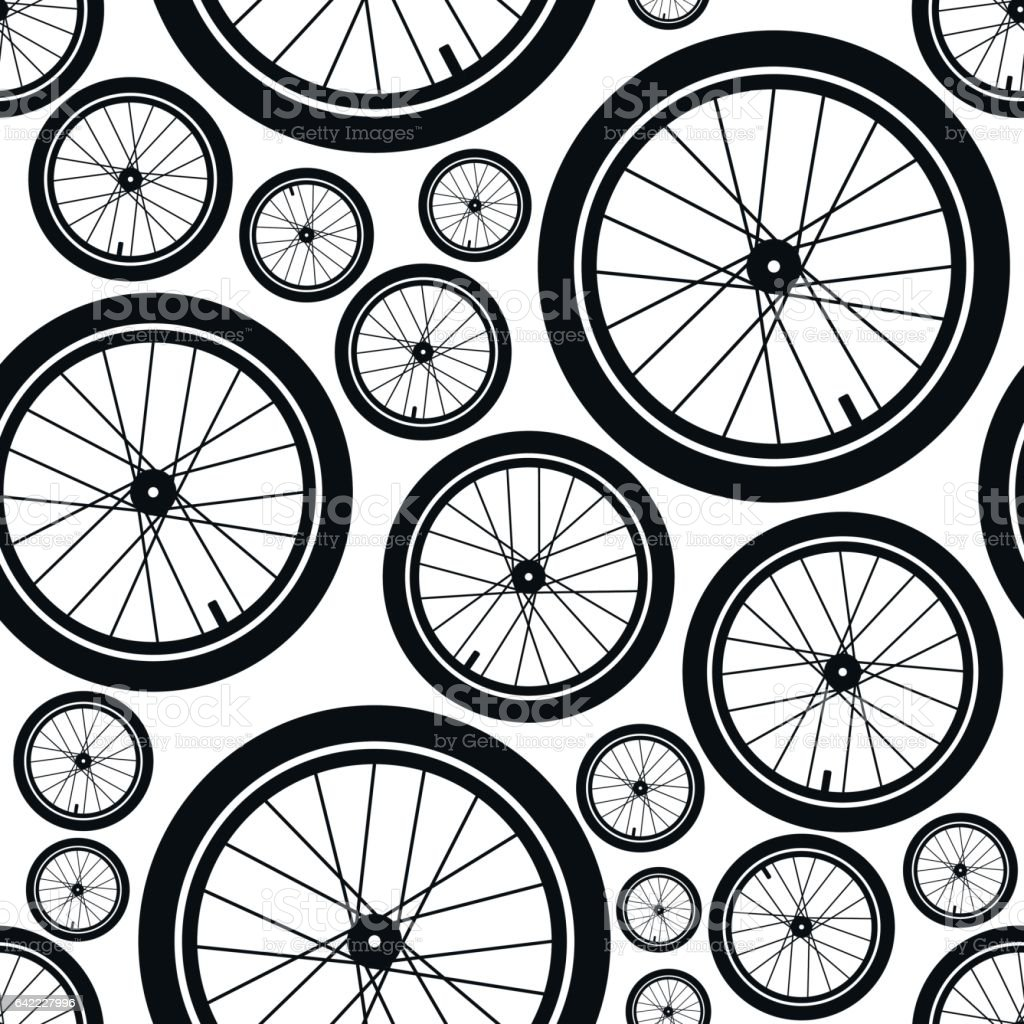Bicycles. Seamless pattern. vector art illustration