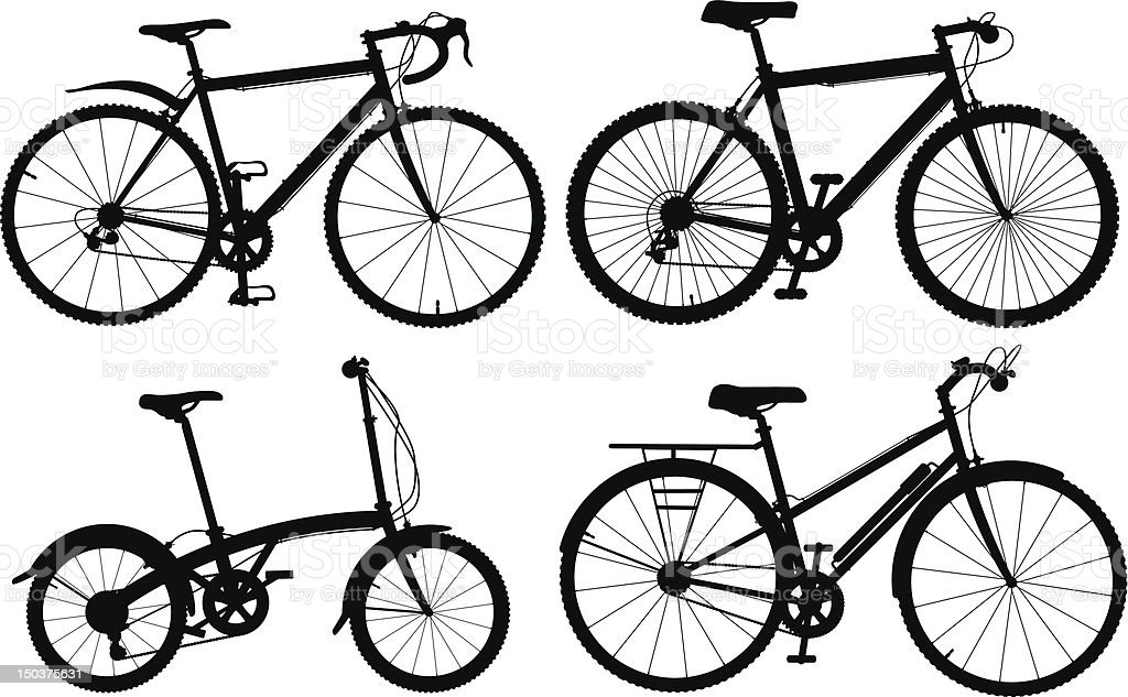 Bicycles royalty-free stock vector art
