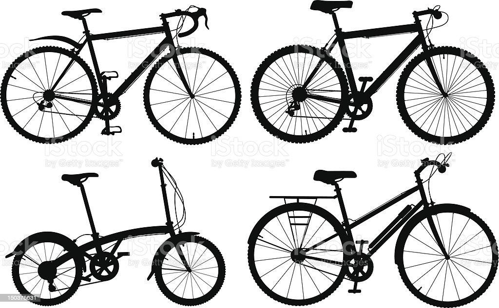 Bicycles vector art illustration
