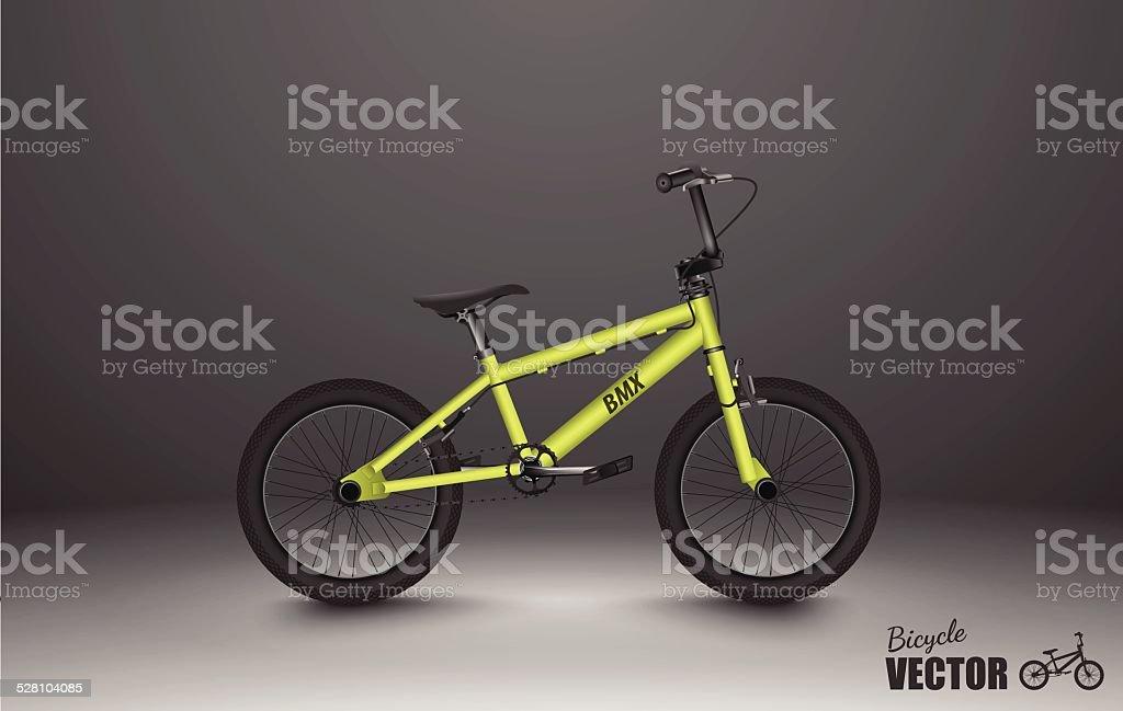 BMX bicycle.vector vector art illustration