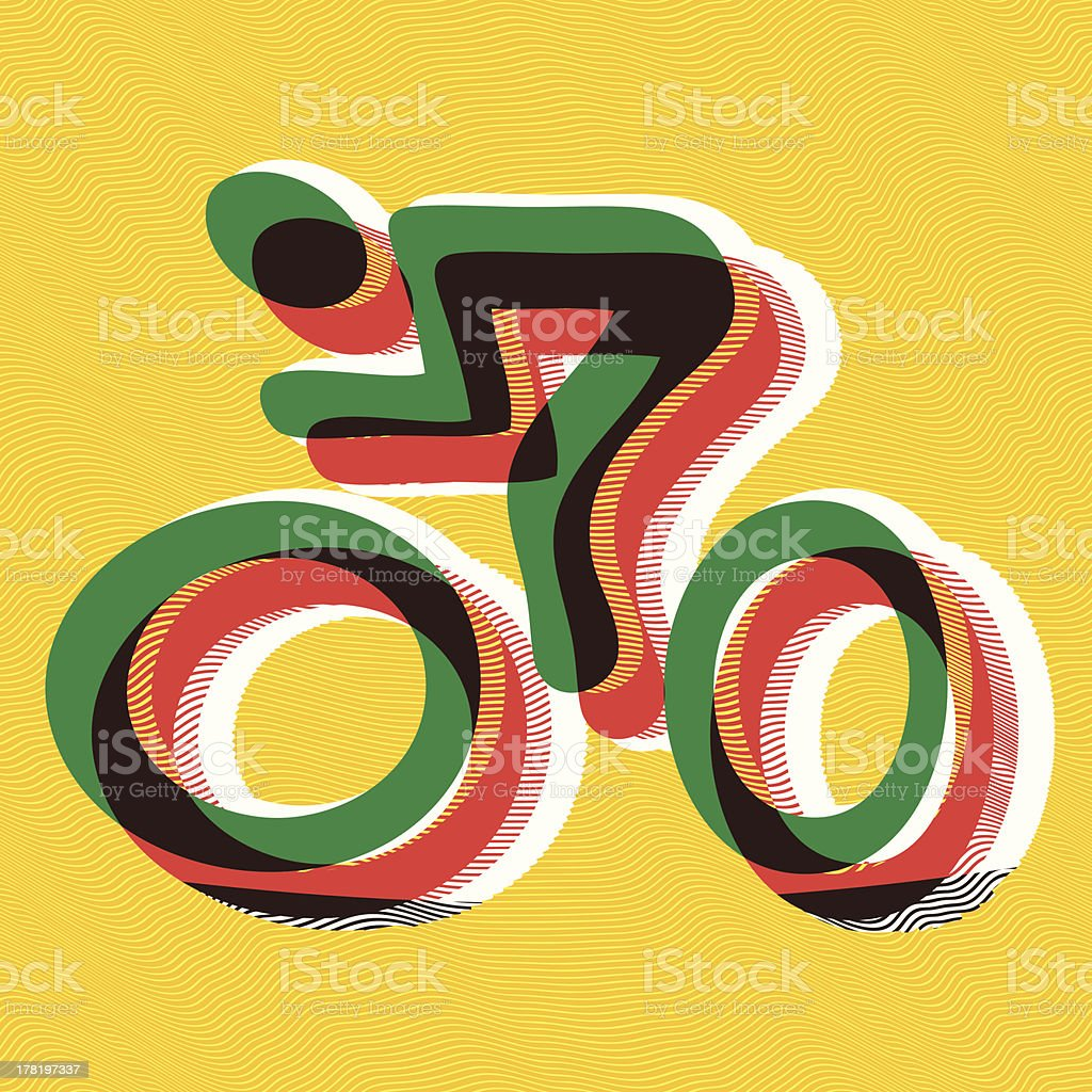 Bicyclist royalty-free stock vector art