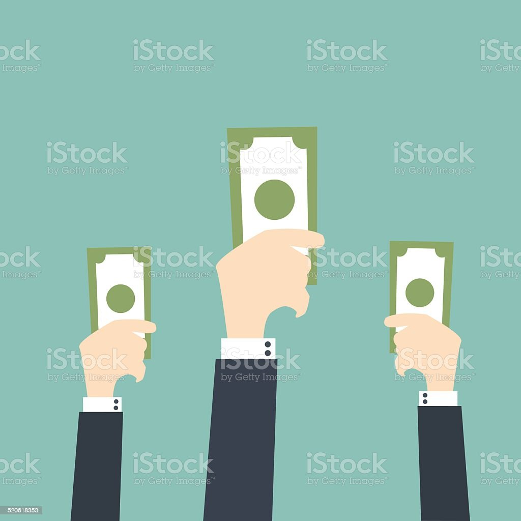 Bidding or Auction Concept vector art illustration