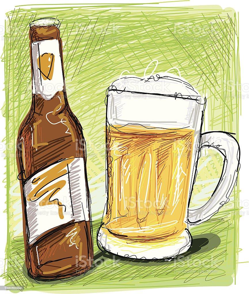 bier sketch royalty-free stock vector art