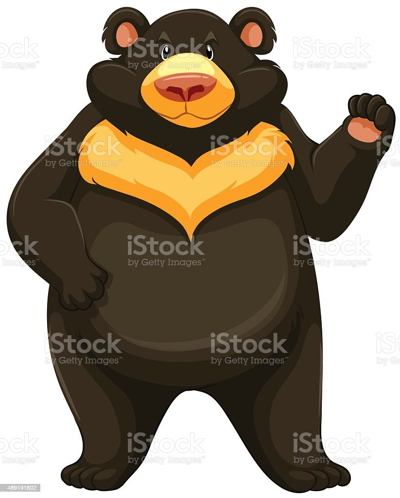 Big angry bear vector art illustration