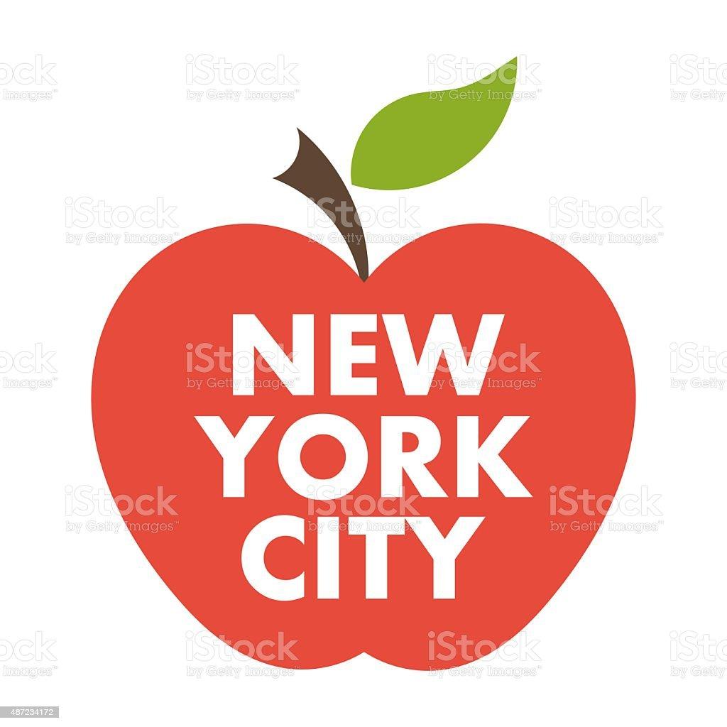 Big apple. New York city vector art illustration