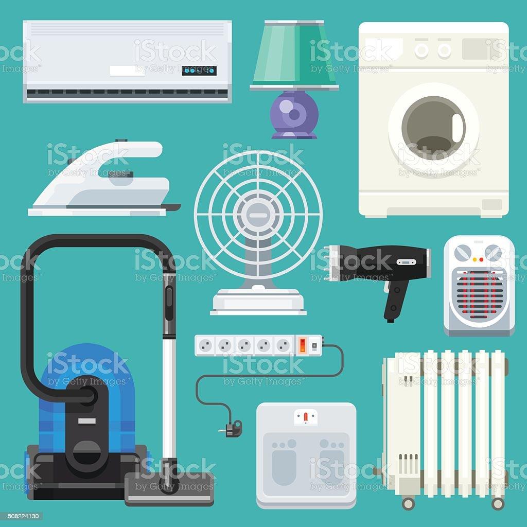 Big appliance set! #5 vector art illustration