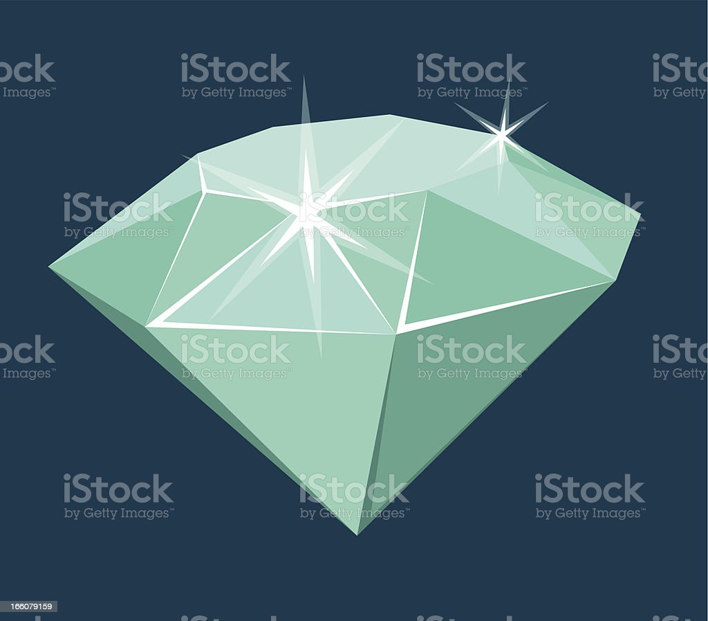 Big Assed Diamond royalty-free stock vector art