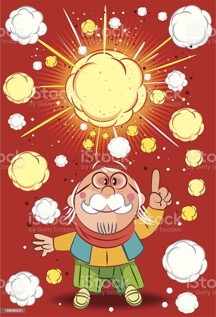 Big bang and god particle vector art illustration